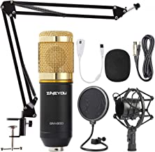 ZINGYOU Condenser Microphone Bundle, BM-800 Mic Kit with Adjustable Mic Suspension..