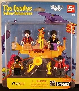 K'nex Beatles Yellow Submarine Minifigures (John, Paul, George and Ringo)