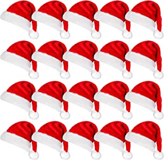 Christmas Mini Hats Santa Claus Hat for Cup Bottle Cover Cap Xmas Home Party Decoration Pack of 20