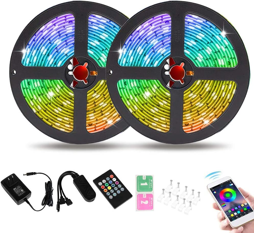 Tingkam 49.2 ft 15M Bluetooth LED Japan Cash special price Maker New Light Dream APP Chasing with