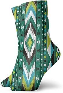 Hunter qiang, Calcetines para mujeres y hombres, tribal, sin costuras, patrones geométricos coloridos Vektorbeschaffenheit - Calcetines deportivos (30 cm)