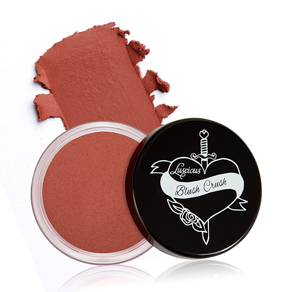 Blush Crush by Luscious Cosmetics | Ultra-blendable Cream Blush for Cheeks and Lips w/Natural Matte Finish | Vegan and Cruelty-Free Makeup (Adoration)