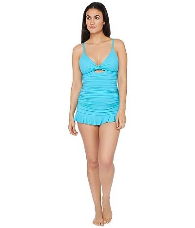 La Blanca Island Goddess Twist Keyhole Tankini Swimsuit Top (Poolside) Women