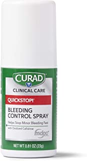 CURAD QuickStop Bleeding Control Spray, For Minor Cuts & Scrapes, .81oz (1 Count)