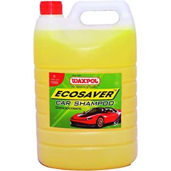 Waxpol Ecosaver Car Shampoo Concentrate - 5 LTR. (for Bucket, Foam & Snow Foam Wash)