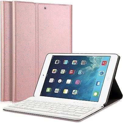 LUCKYDIY iPad Mini1 2 3 Bluetooth Tastatur H lle Keyboard Case Ultrad nn leicht SmartShell St nder Schutzh lle mit magnetisch Abnehmbarer drahtloser Deutscher Bluetooth Tastatur for iPad Mini Schätzpreis : 27,99 €