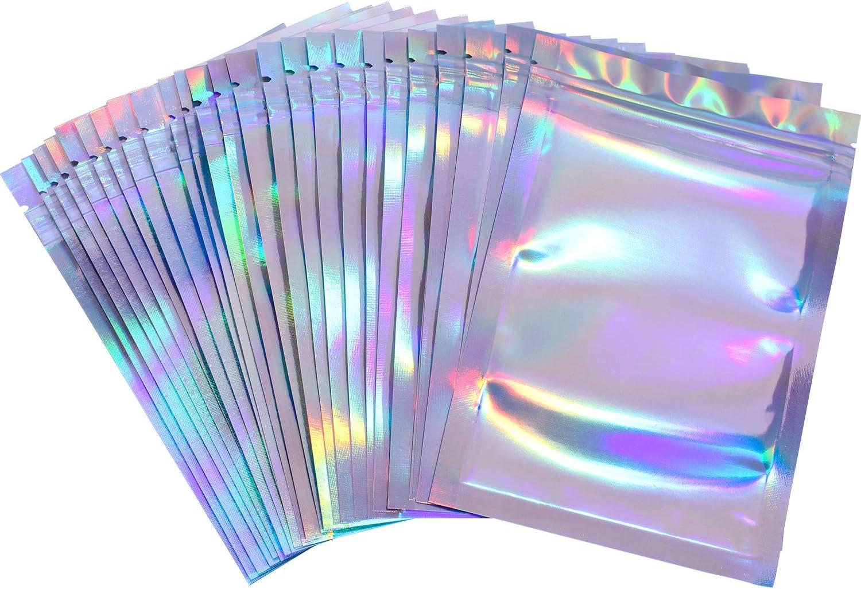 Financial sales sale 100 Pieces Resealable Smell Proof Bags Bag Foil Pouch Cheap SALE Start Stora Flat