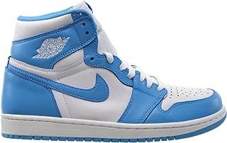 Jordan Air 1 Retro High OG Men's Basketball Shoes White/Dark Powder Blue 555088-117