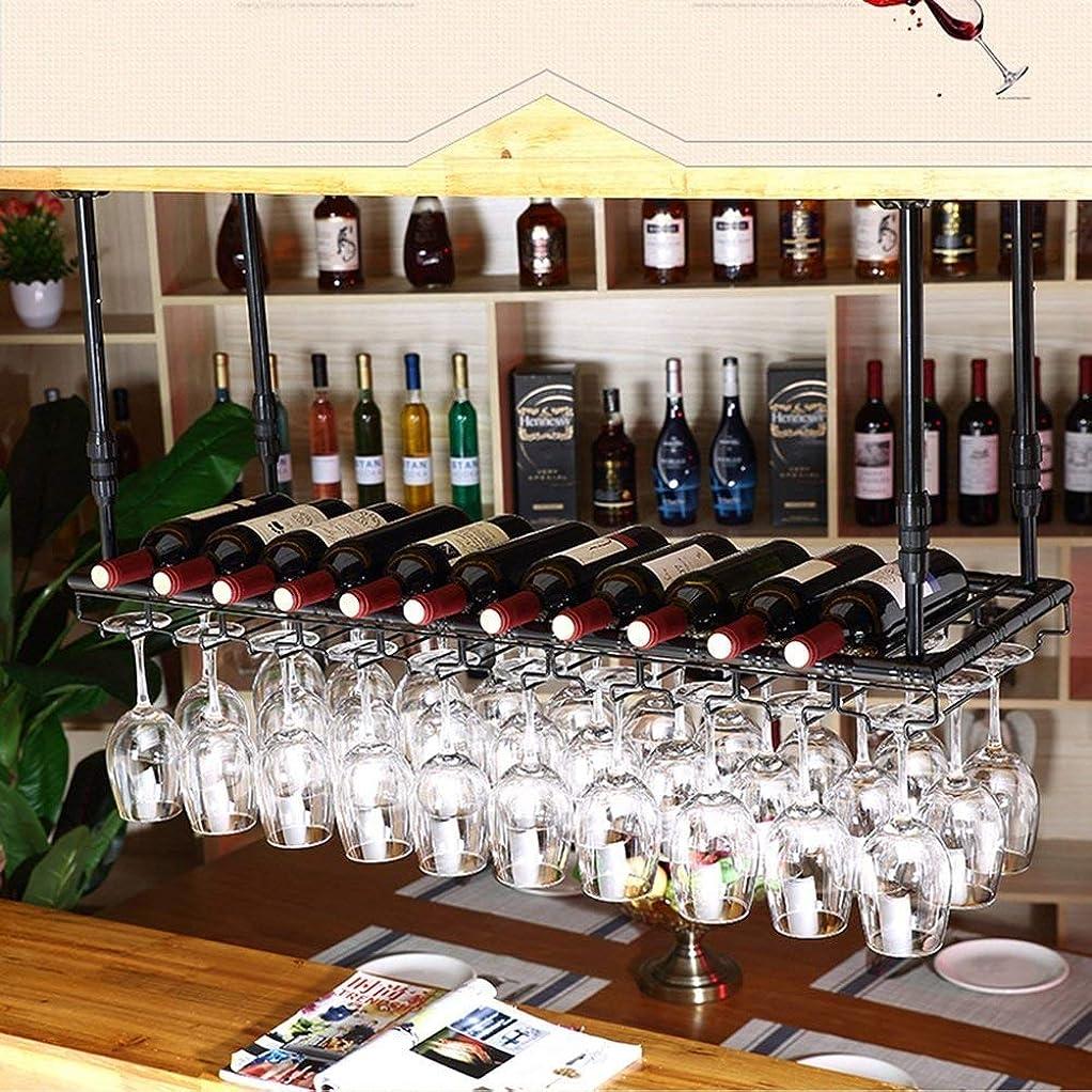 利益法律により柔和XixuanStore 居間のワインラック、レストランのワインラック、装飾的なワインラック、ワインラックヨーロッパのバー逆さまホームクリエイティブ高さを補完するあらゆるスペース (Color : 100cm*35cm)