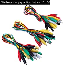 30 Pieces Test Leads with Alligator Clips Set Insulated Test Cable Double-ended Clips, 19.7 Inch (30 Pieces)