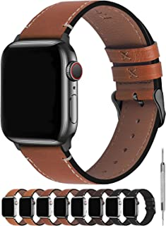 Fullmosa 8 Colors for Apple Watch Band 40mm 44mm, Vintage Calf Leather for Apple Watch Series 6 5 4 and iWatch SE, AppleW...