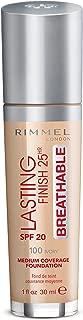 Rimmel London, Lasting Finish Breathable Foundation, Ivory #100, 30 ml