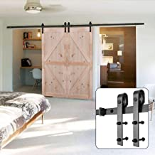 U-MAX 10FT Heavy Duty Double Door Sliding Barn Door Hardware Kit - Super Smoothly and Quietly - Simple and Easy to Install - Fit 30