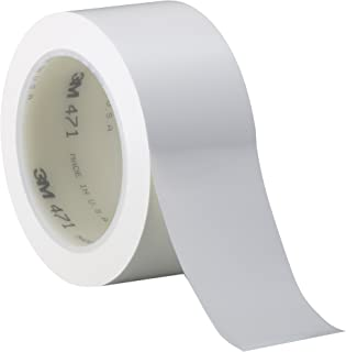 3M Vinyl Tape 471 White, 1 in x 36 yd, Conveniently Packaged (Pack of 1)
