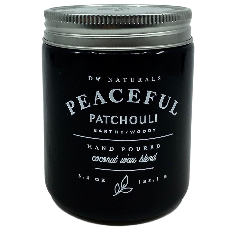 直面する加害者同盟DW Naturals Peaceful Patchouli Scented Candle Coconutワックスブレンド