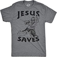Best jesus saves hockey goalie shirt Reviews
