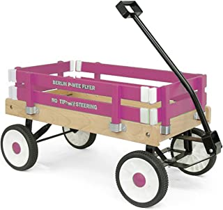Berlin F257 Amish-Made Pee-Wee Flyer Ride-On Wagon, Hot Pink