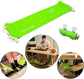 Foot Hammock Under Desk Foot Rest Stand protable Legs up Hammock Swing for Your Office nap,Home footrest with Hanging Rope(Green)