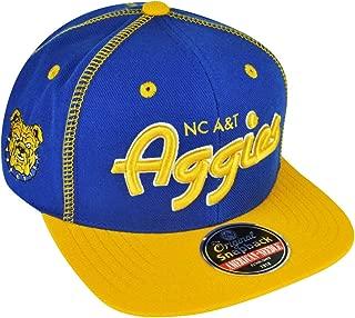 American Needle North Carolina A&T University Aggie Pride Snapback Traxside Baseball Cap (HBCU)