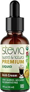 Irish Cream Premium Quality STEVIA Drops| Organic Liquid STEVIA Sweetener| Best Sugar Substitute |100% Pure Extract| All N...