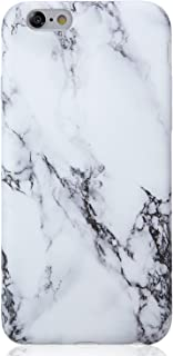 VIVIBIN iPhone 6 Case,iPhone 6s Case,Cute Black White Marble for Men Women Girls Clear Bumper Best Protective Soft Silicone Rubber Matte TPU Cover Slim Fit Best Phone Case for iPhone 6/iPhone 6s