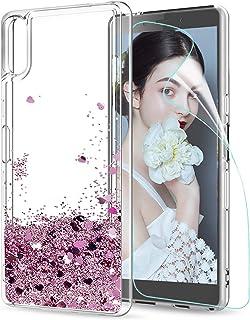 526f543b363 LeYi Funda Sony Xperia L3 Silicona Purpurina Carcasa con HD Protectores de  Pantalla, Transparente Cristal