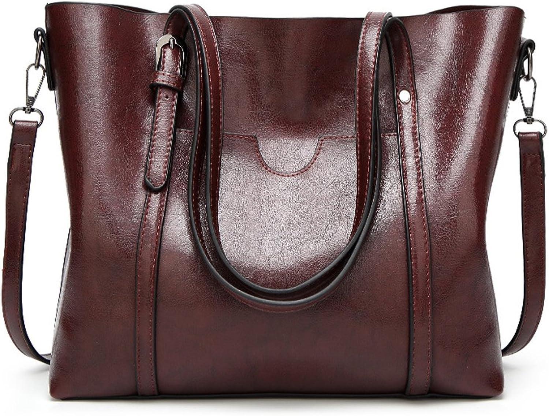 Panzexin Women Top Handle Satchel Handbags Messenger Shoulder Bag for Women Oil Wax Leather Tote Bag