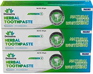 Jagat Devsutra Mint Flavor Toothpaste, Dr Recommended Ayurvedic Organic Herbal Toothpaste | 100% Natural Whitening Teeth W...