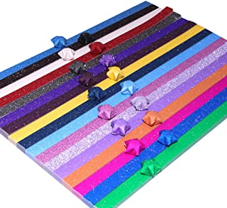 Tomaibaby Lucky Star Paper Origami Stars Papers Package DIY Paper Colorful Star Making Paper Folding Origami Star Paper St...
