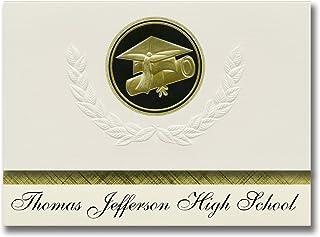 Signature Announcements Thomas Jefferson High School (Richmond, VA) Graduation Announcements, Presidential style, Elite pa...