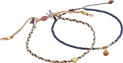 Set of 2 Pull Cord Beaded Bracelet