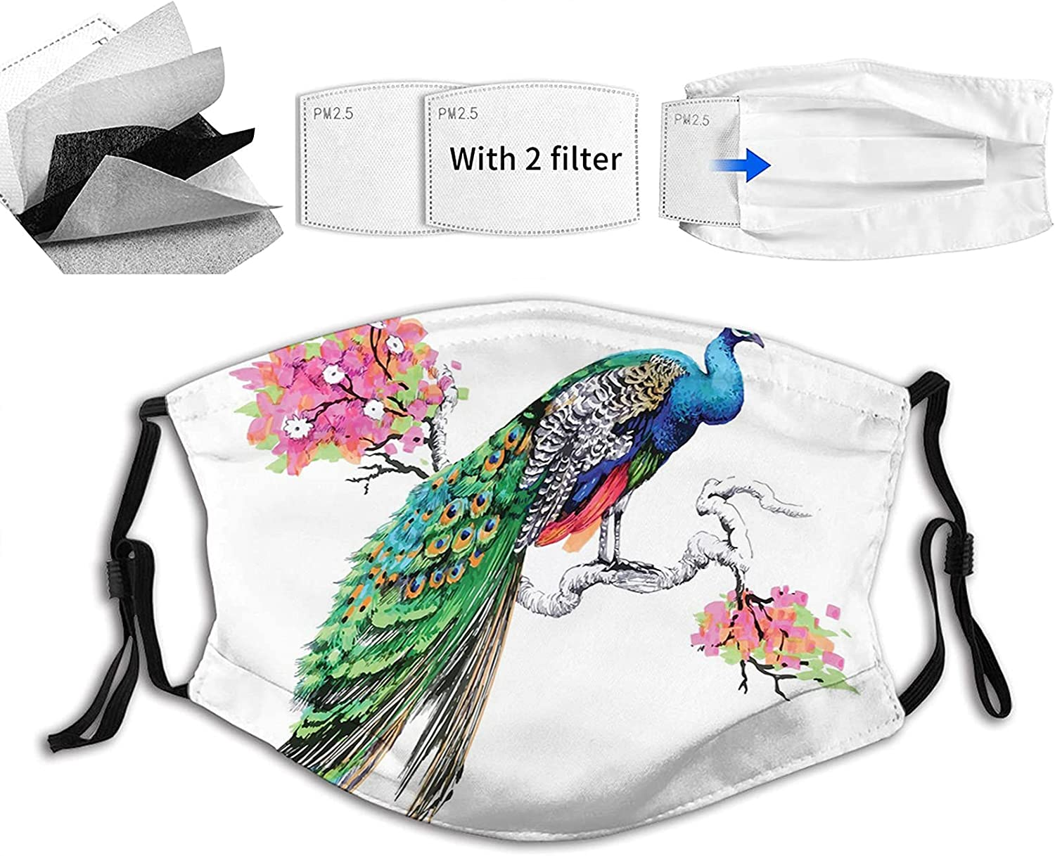 Comfortable Printed mask Watercolor Style Year-end annual account on Bra a Bombing new work Bird Colorful