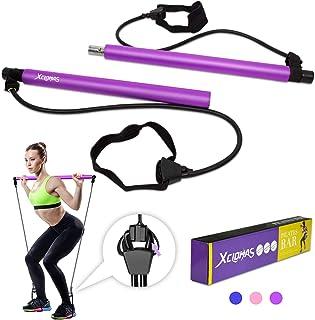 XCLOHAS Kit de barra de pilates con banda de resistencia portátil para ejercicios de tonificación muscular, gimnasio en ca...