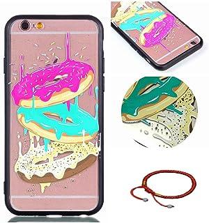 e3f94545a3d GOCDLJ Funda para iPhone 6, TPU Silicona Transparent iPhone 6S Carcasa  Ultra Delgado con Protector