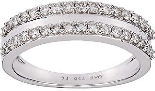 Pure Gold Jewellers Women's 18K White Gold Diamond Ring - 7 US