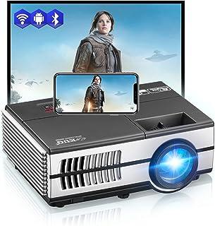 Mini WiFi Bluetooth Projector Small Wireless Android6.0 HD Portable Home Theater Projector Bluetooth HDMI USB VGA VA Audio...