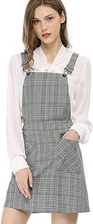 Women's Plaids Adjustable Strap Above Knee Overall Dress Skirt