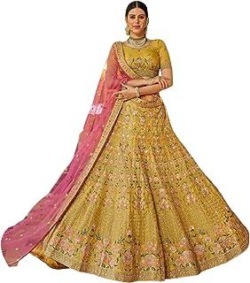 فستان نسائي هندي من Mustard، مصمم لحفلات الزفاف الخاصة جورجيت ليهينغا شولي تصميم فستان بوليوود 6083