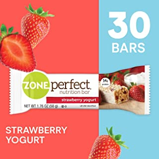 ZonePerfect Nutrition Snack Bars, Strawberry Yogurt, 1.76 Ounce (30 Count)