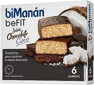 biManán - beFIT - Proteína para tonificar - Barritas Chocolate Coco - 6uds 162 gr