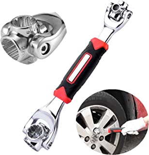 Tiger Wrench Universal Socket Wrench Tools Bike Spanner Multifunction Wrench 48 in 1 Wrench Tool Gadgets for Men (Black)