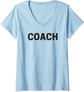 Womens Coach V-Neck T-Shirt