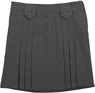 grey kick pleat skirt