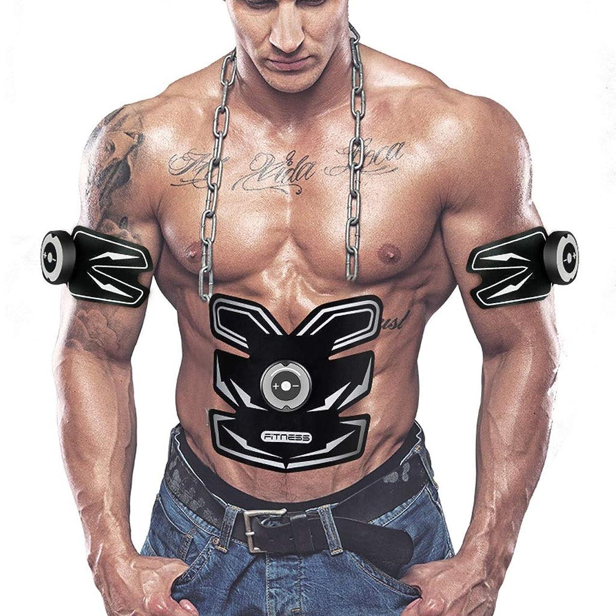 散らすコットンとても多くのAbsのトレーナーの適性の訓練ギヤ、リモート?コントロールのEMS筋肉刺激装置 - 人及び女性のためのUSBの再充電可能な最終的な腹部刺激装置筋肉トナー (Color : White)