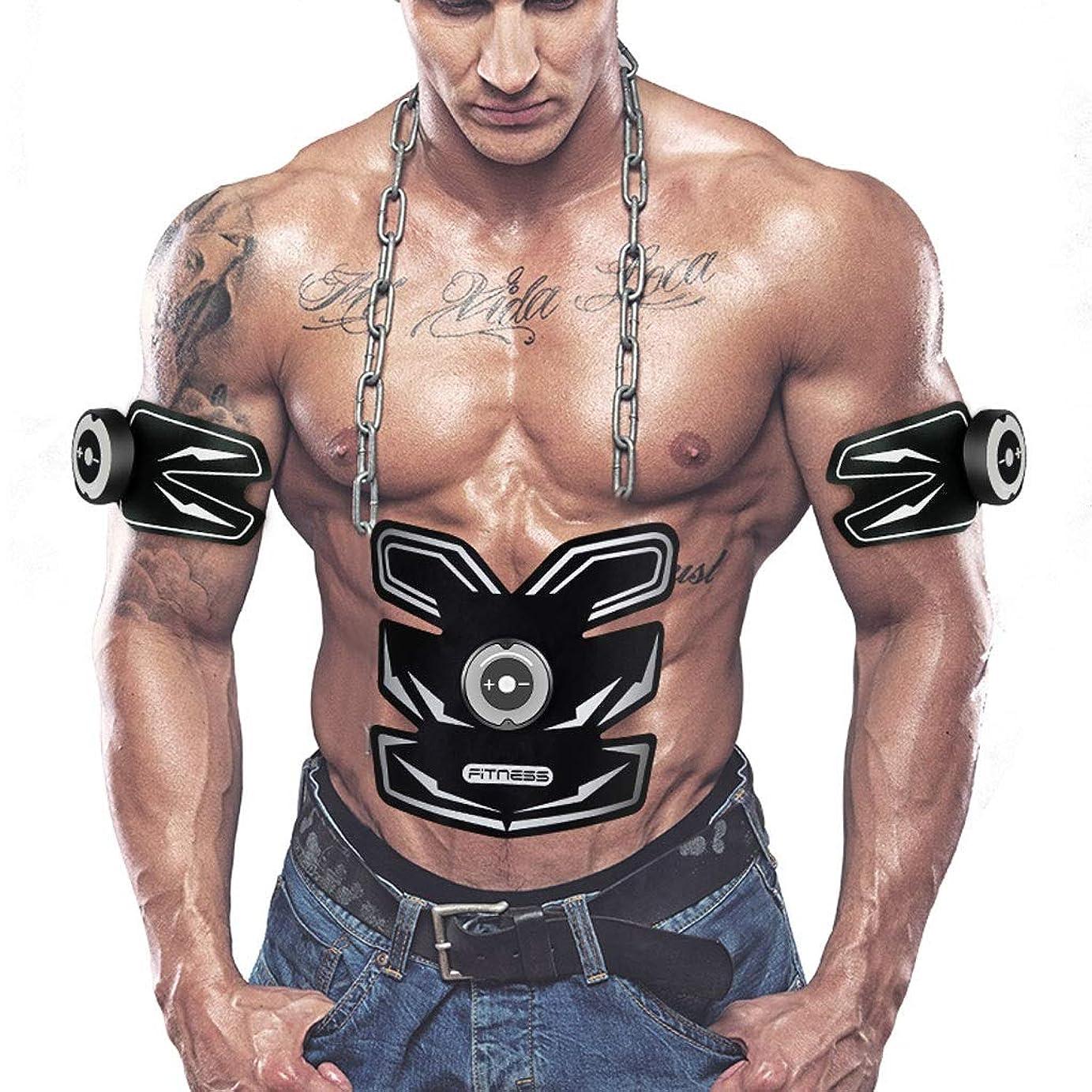 Absのトレーナーの適性の訓練ギヤ、リモート?コントロールのEMS筋肉刺激装置 - 人及び女性のためのUSBの再充電可能な最終的な腹部刺激装置筋肉トナー (Color : White)