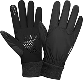 Anqier Winter Gloves for Men Women Thermal Waterproof Warm Fleece Gloves Driving Running Cycling Cold Weather Gloves