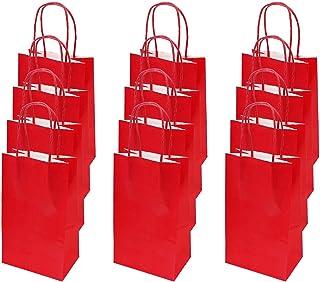 flintronic Sac Cadeau, 12 Pcs Sacs en Papier Sac en Papier Kraft de Haute Qualité, pour Les Fêtes, Les Cérémonies de Remis...
