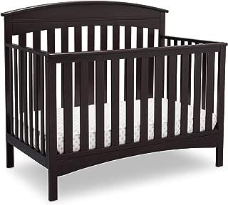 Delta Children Bennington Elite Arched 4-in-1 Convertible Baby Crib, Dark Espresso