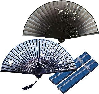 Zasiene Abanico Plegable de Mano Ventilador de Mano Abanicos Bambú y Seda Ventilador Mano Plegable Ventilador con Borla y ...