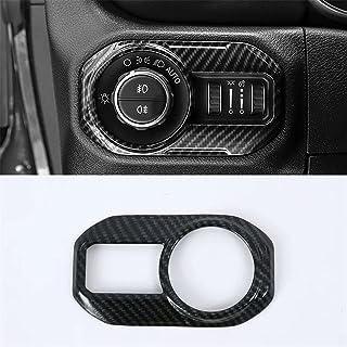 for Jeep Wrangler JL 2018 2019 2020 Headlight Switch Button Knob Trim Car Accessories Carbon Fiber look